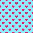 Vector seamless pattern with hearts — Stock Vector #19297755