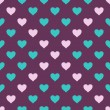 Vector seamless pattern with hearts — Stock Vector #19297809