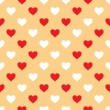 Vector seamless pattern with hearts — Stock Vector #19297815
