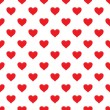 Vector seamless pattern with hearts — Stock Vector #19297837