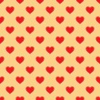 Vector seamless pattern with hearts — Stock Vector #19297867