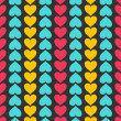 Stock Vector: Vector seamless pattern with hearts