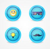 Set of glossy internet icons — Vecteur