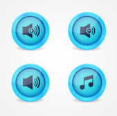 Media player glossy buttons collection — Vecteur