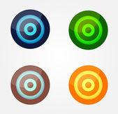 Color glossy buttons — Stok Vektör