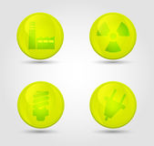 Vector set of glossy icons — Stock Vector