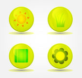 Vector set of glossy icons — Cтоковый вектор