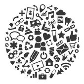 Social media, background of the icons vector — Stock Vector