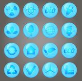 環境のベクトル アイコンを設定 — ストックベクタ