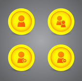 Set of glossy internet icons — Stock Vector