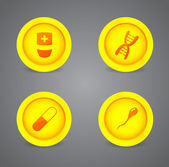 Vector set of medical icons — Stock Vector