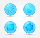 Vector set of glossy icons — Stockvektor