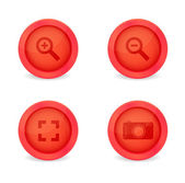 Set of glossy icons — 图库矢量图片