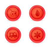 Vector set of medical icons on white background — Stock Vector