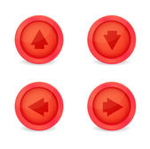 Set of glossy icons with arrows — Stock Vector