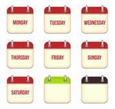 Vector calendar app icons — Stock Vector