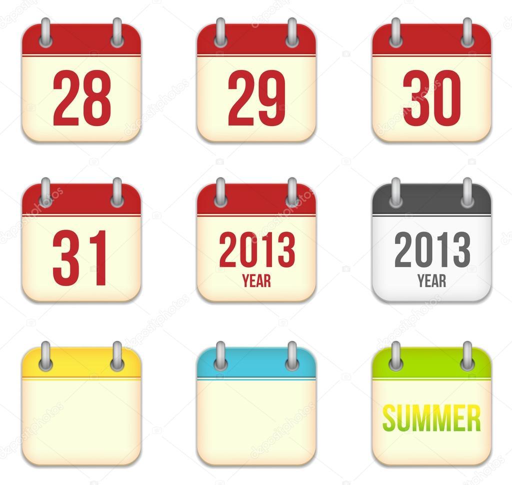 векторный шаблон календаря 2013