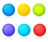 Set of colorful balls on white background — Stock Vector