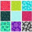Seamless doodle patterns set — Stock Vector