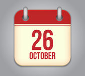 Vector October calendar app icon — Stock Vector