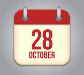 10 月のカレンダーのアプリのアイコンをベクトルします。 — ストックベクタ
