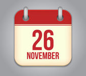 Vector November calendar app icon — Stock Vector