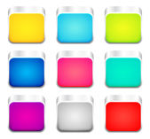 Set of color apps icons — Stockvector