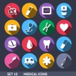 Medical Vector Icons With Long Shadow Set 10 — Stock Vector #29992317