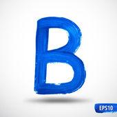 Алфавит письмо б. акварели алфавит. Векторный фон — Cтоковый вектор