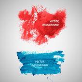 Vector watercolor blot banners. Grunge background — Stock Vector