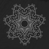 Vector flourish pattern. Chalk board with floral ornament. Doodle background. — 图库矢量图片