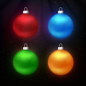 Christmas balls. Vector illustration. — Stock Vector