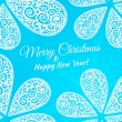 Merry Christmas and Happy New Year. Vector doodle twirls background — Stock Vector