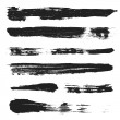 Vector Grunge Brushes Set 3 — Stock Vector