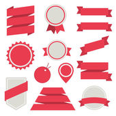 Vector Stickers and Badges Set 3. Flat Style. — Stock Vector