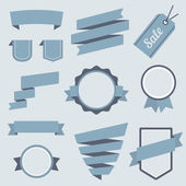 Vector Stickers and Badges Set 9. Flat Style. — Stock Vector