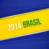 Astratto geometrico con colori bandiera Brasile. illustrazione vettoriale — Vettoriale Stock