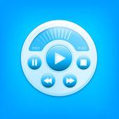 Vector media player interface — Stock Vector