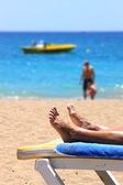 在海滩上放松 — 图库照片