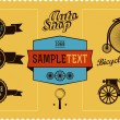 Old transport and labels — Stock Vector #28596605