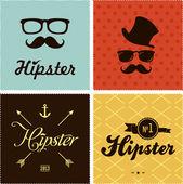 Estilo hipster — Vector de stock