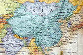 Map of china and parts of asia — Stock Photo
