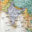 Map of India and surrounding countries - Stock Photo