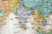 Map of India and surrounding countries — Stock Photo