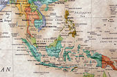 World map of Indonesia and surrounding countries — Stock Photo