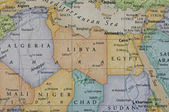 Map of Libya — Stock Photo
