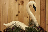 Carved Swan — Stock Photo
