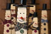 Wooden snowmen — Stockfoto