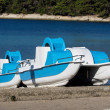 Two pedal boats — Stock Photo