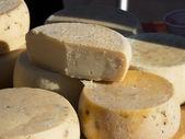 Cheese wheels — Stock Photo